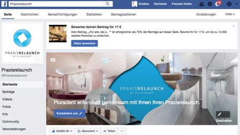 Facebook Praxisrelaunch by Pluradent