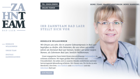 Zahnteam Bad Laer Website