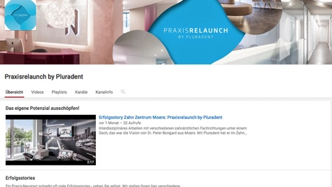 Praxisrelaunch by Pluradent Youtube