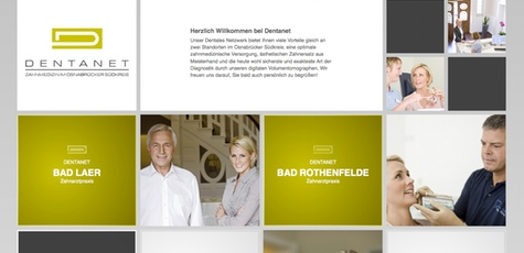 Dentanet - neues Webdesign